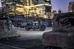 """""""The Bobber"""" (SaM FaST) Tags: motorcycle moto indian scout bobber custom cruiser beauty sony sonya6300 a6300 photography israel il outdoor outdoors urban city citylife night light"""