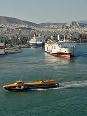 Ferries in port (35mmMan) Tags: greek islands cruise port pireaus 2019 ferry ferries aegean flying dolphins anek blue star