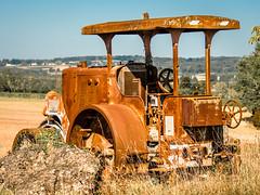 old traction-2 (grahamrobb888) Tags: d500 nikon nikkor nikond500 grahamrobbphotos 80400mm afs80400mm1456ed france holiday holidaysnaps hols rust traction oldmetal oldcars oldfashionhed abandoned