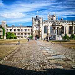 from the queen's gate (khrawlings) Tags: trinitycollege cambridge gate door queens great court buildings architecture