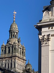 Glasgow grandeur in the sun (markshephard800) Tags: citychambers blue buildings architecture scotland glasgow