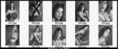 Planche Contact Laura -001 cjpg (villatte.philippe) Tags: laura négatif planche contact portrait sexy glamour