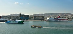 Port Panorama 2 (35mmMan) Tags: greek islands cruise port pireaus 2019 panorama ferry ferries minoan cosmote aegean flying dolphins