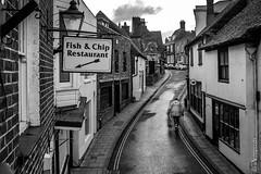 fish 'n' chips (Niels Linneberg) Tags: rye eastsussex fish chips street fujifilm walk fastfood takeaway history