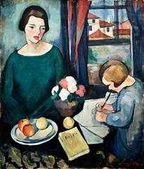 Untitled [Mother and Daughter] (1924) - Sarah Affonso (1899-1983) (pedrosimoes7) Tags: sarahaffonso motheranddaughter writing museunacionaldeartecontemporânea mnac museudochiado lisbon portugal ✩ecoledesbeauxarts✩ shockofthenew