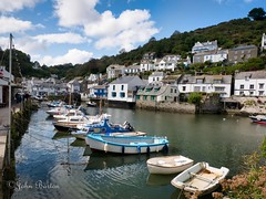 Harbour View (bart7jw) Tags: cornwall polperro boats water rowing fishing houses sky summer england lumix g85 g80