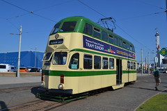 Blackpool Transport Balloon 723 (Will Swain) Tags: blackpool during bank holiday gold running day 25tth august 2019 tram trams light rail railway rails transport travel europe transportation city lancashire coast balloon 723