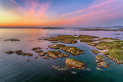 """""""Isles of Cloughglass & Inishinny"""" (Gareth Wray - 13 Million Views, Thank You) Tags: dji phantom four 4 drone aerial arlads keadue island houses home life quadcopter strand cove beach islands ocean sea landscape seascape landmark famous tourist attraction tourism tourists history visit donegal ireland irish scenic gareth wray photography uav sun sand atlantic water pool day vacation reflection sandy gaeltacht p4p pro sky grassy bay cloghlass cloughglass cloghglass 2019 sunset"""