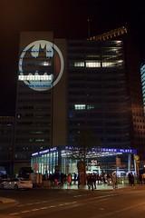 Batsignal over Potsdamer Platz, Berlin (André Bauscher) Tags: batsignal batman berlin potsdamer platz germany deutschland comics dc projection