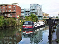 The Boat Aqualine On The Grand Union Canal In Brentford -  London. (Jim Linwood) Tags: brentford london england canal boat