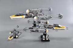 Gold Squadron Y Wing 18 (fnxrak) Tags: starwars star wars miniscale ywing moc rogueone lego fnxrak goldsquadron rebelaliance rebelfleet