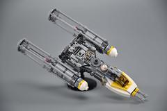 Gold Squadron Y Wing 17 (fnxrak) Tags: starwars star wars miniscale ywing moc rogueone lego fnxrak goldsquadron rebelaliance rebelfleet