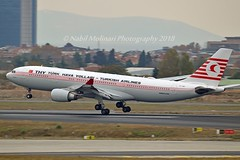 """""""Kushimoto"""" Turkish Airlines TC-JNC Airbus A330-203 cn/742 Painted in """"Retro"""" special colours 10-2015 @ LTBA / IST 24-11-2018 (Nabil Molinari Photography) Tags: kushimoto turkish airlines tcjnc airbus a330203 cn742 painted retro special colours 102015 ltba ist 24112018"""