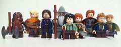 The Fellowship of the Ring (LegoHobbitFan) Tags: lego moc creation build model figbarg custom purist minifig minifgures lotr hobbit day lordoftherings fellowshipofthering gandalf frodo sam pippin boromir gimi aragorn legolas fantasy earth middle