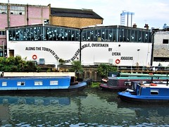 Ballymore Grafitti By The Grand Union Canal, Brentford -  London. (Jim Linwood) Tags: brentford london england boats