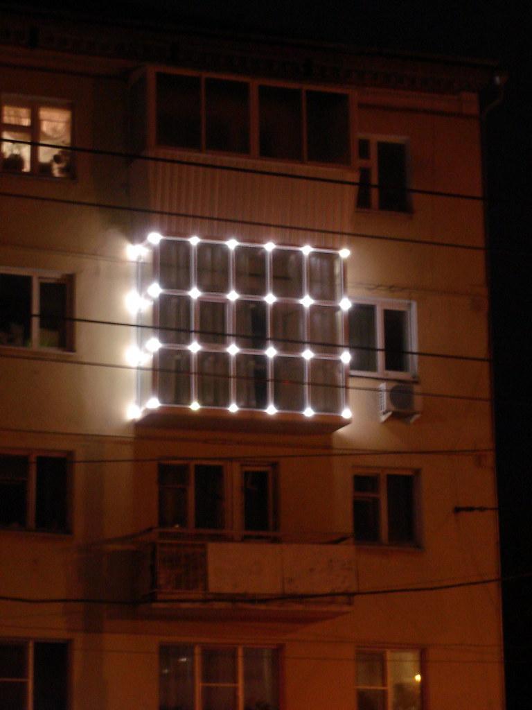 фото: Светящийся балкон