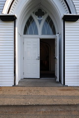 open&closed (maryg.delorey) Tags: week113 juxtaposition the doors church when i arrived this morning