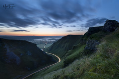 Pre dawn at the pass. (miketonge) Tags: sunrise dawn castleton hope pass winnats winnatspass peakdistrict lighttrails