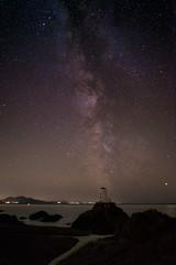 Twr Mawr Milkyway (FadeToBlackLP) Tags: anglesey lighthouse twr mawr twrmawr islandoftheblessed wales milkyway leading leadingline noght stars galaxy core beach coastal uk llanddwyn ynys