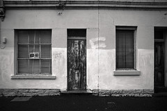 Door (OzGFK) Tags: australia melbourne rollei rolleirpx25 analog blackandwhite cold contrast evening film homedeveloped monochrome pushed selfdeveloped streetphotography urban winter