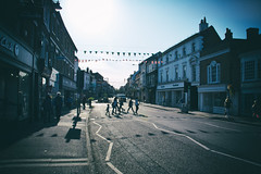 Crossing (nigdawphotography) Tags: sunlight shadows street people shopping farnham surrey