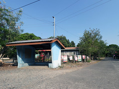 provincial bus stop and open road (_gem_) Tags: philippines launion ilocosregion ilocos beach travel sanjuan ontheroad road openroad shelter structure busstop architecture building design