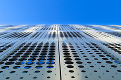 DSC_9438  modern facade - abstract achritecture (Manchester) (Filip Patock) Tags: modern facade abstract architecture abstraction lines geometry geometric elevation manchester uk blue white skyline sky wallpaper creative artistic nikond3200 photography urban city metal