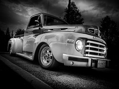 1949 (Dave GRR) Tags: mercury pickup truck old retro vintage classic collectible cars coffee toronto olympus monochrome mono black white