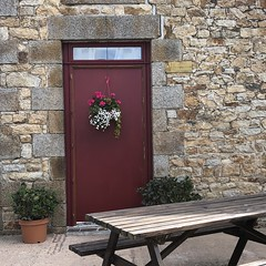 A Normandy Farm (Melinda * Young) Tags: doorway door stone rural norman traditional france construction mortar blocks flowers farm public normandy