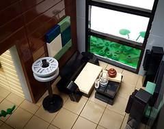 Artsand House MOC. Livingroom. (betweenbrickwalls) Tags: lego afol moc livingroom living home
