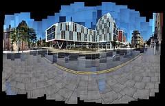 Nottingham Trent University (ldjldj) Tags: trent university nottingham nottinghamshire hockney david joiner photomontage panograph montage mosaic collage art city centre