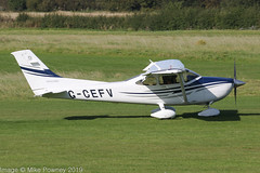 G-CEFV - 2005 build Cessna 182T Skylane, arriving on Runway 08L at Barton (egcc) Tags: 182 18281538 182t barton ce182 cessna cessna182 cityairport egcb gcefv lightroom manchester n66167 skylane smith