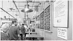 2019/264: Thinking About It (Rex Block) Tags: nikon d750 dslr 1835mm wide zoom washington dc capitolhill easternmarket line deli market lunch crowded food rules monochrome bw project365 365the2019edition 3652019 day264365 21sep19 ekkidee 2019264thinkingaboutit