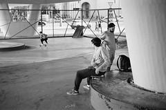 (.Laedin) Tags: analog film 135 35mm monochrome bw blackandwhite ilford xp2 super rangefinder юпитер8 50mm soviet lens 400ei800 400800 push 1 street photography photo people skate skateboarding