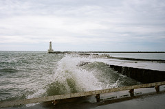 Untitled (Howard Yang Photography) Tags: konicahexarrf ontario cobourg lighthouse kodakportra160 35mm filmphotography zeissbiogon