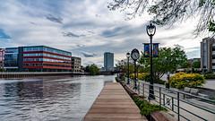 Schlitz Park Riverwalk (Sharky.pics) Tags: unitedstatesofamerica urban tiltshift wisconsin nikond850 city cityscape milwaukee 2019 august usa
