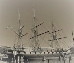 Baltimore MD ~ USS Constellation (karma (Karen)) Tags: baltimore maryland innerharbor ports ussconstellation tallship sepia hss