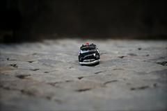 It's a small world (*Kicki*) Tags: urban car toy steet cobblestones stockholm sweden gamlastan oldtown fotosondag bokeh fs190922 eyes brändatomten