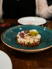 xató - cod fish, tuna belly, tomato, onion, white beans, romesco (frodnesor) Tags: niukitchen demelomas karina iglesiasdowntown miami catalan spanish