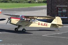 G-AJEE - 1946 build Auster 5/J1 Autocrat, long time Barton resident (egcc) Tags: 2309 5j1 auster austerj1 autocrat barton cityairport egcb gajee lightroom manchester whitehead