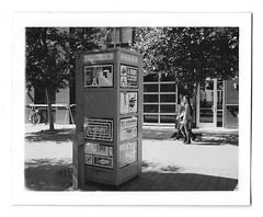 Book Box (scottboms) Tags: npc195 polaroid instantfilm analog signage facebook california menlopark analogresearchlab bw