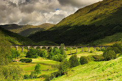 Glenfinnan viaduct (jeff.dugmore) Tags: scotland uk britain europe glenfinnan westhighlands highlands landscape glenfinnanviaduct scenery scenic railway viaduct steamtrain jacobite train steam tracks harrypotter fortwilliam mallaig trees green grass arch picturesque hillside outdoor outside countyside rural stone foliage architecture hogwartsexpress canon nisi