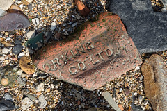 Foreshore find (Spannarama) Tags: foreshore thames river london uk foreshorefinds rocks stones sand sunshine sunlight northgreenwich greenwich brick broken
