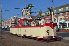 Blackpool Transport Open Boat 227 (Will Swain) Tags: blackpool during bank holiday gold running day 25th august 2019 heritage preserved tram trams light rail railway rails transport travel europe transportation city lancashire coast open boat 227