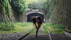 (dimitryroulland) Tags: nikon d750 85mm 18 dimitryroulland performer art artist dance dancer petite ceinture petiteceinture green tunnel natural light rain gym flexible flexibility people