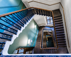 Downward Bound (Sean Batten) Tags: london england unitedkingdom themaughanlibrary spiral staircase nikon d800 1424 city urban openhouselondon