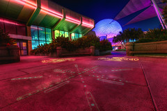 Spaceship Earth | Epcot Center (Pandry 2015) Tags: canon6d canon colors travel florida orlando spaceshipearth nightphotography epcotcenter epcot disney