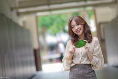 IMG_8393L (攝影玩家-明晏) Tags: 人 人像 戶外 outdoor 美女 辣妹 modle 外拍 台灣大學 饒詩婕 jie portrait pretty taiwan taipei 女生 女孩 smile