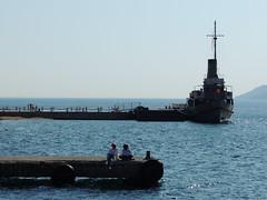 The 'T.C.G. Nusret', Çanakkale, Turkey (on the Dardanelles) (Steve Hobson) Tags: çanakkale turkey dardanelles boat tcg nusret