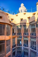 Barcelona (dalecruse) Tags: barcelona spain spanish lapedrera pedrera architecture antonigaudi antoni gaudi building window windows door doors bluesky skyblue blue sky